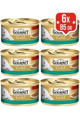 Purina Gourmet Gold Somonlu Tavuklu Konserve Kedi Maması 85 Gr X 6 Adet