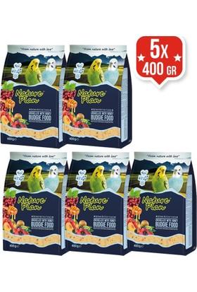 Nature Plan Kabuksuz Muhabbet Kuşu Yemi 400 Gr X 5 Adet