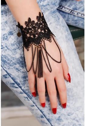 Moco Siyah Renk Dantel Bayan Şahmeran 521836