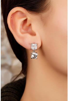 Moco Kristal Taş Tasarımlı Bayan Küpe 522096