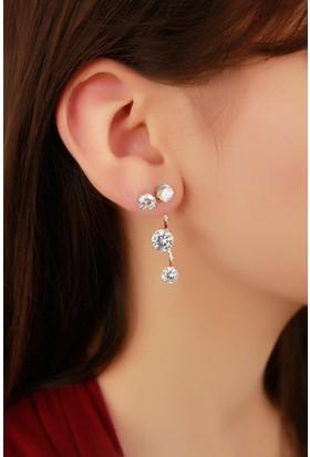 Moco Kristal Taş Tasarımlı Bayan Küpe 523620