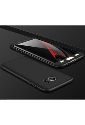 Case 4U Samsung Galaxy S7 Edge 360 Derece Korumalı Tam Kapatan Kılıf Siyah