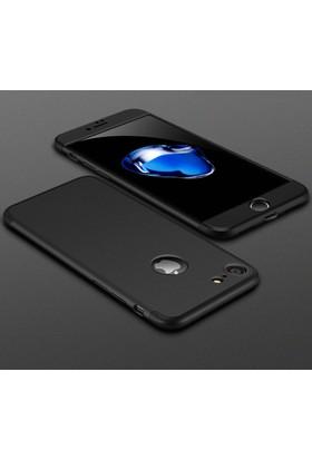 Case 4U Apple iPhone 6 / 6S 360 Derece Korumalı Tam Kapatan Koruyucu Kılıf Siyah