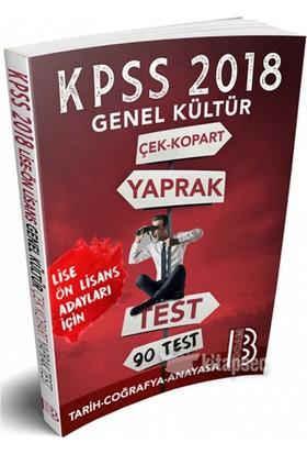 2018 Kpss Lise Ön Lisans Genel Kültür Tarih Coğrafya Anayasa Çek Kopart Yaprak Test Benim Hocam Yayınları