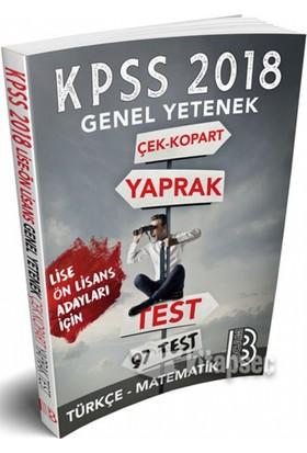 2018 Kpss Lise Ön Lisans Genel Yetenek Türkçe Matematik Çek Kopart Yaprak Test Benim Hocam Yayınları