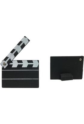 Elitetime Film Başlıyor (Klaket) Siyah Beyaz Ahşap P10-1000 -