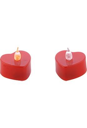 Elitetime Mum Tlayt Pilli Kalp Modeli Kırmızı P24-480 - Ar133