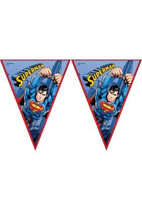 Elitetime Superman Üçgen Bayrak Set