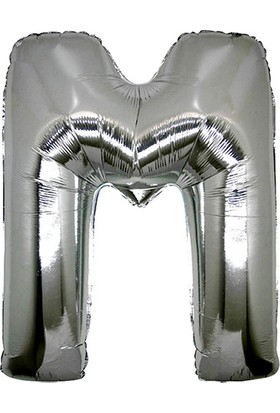 Elitetime Folyo Balon Harf M 40İnc Gümüş P1 - Ar4509M-G