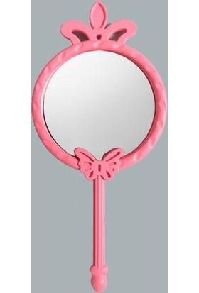 Elitetime Ayna Plastik Kelebek Ve Taçlı Pembe P25-600 - Ar12