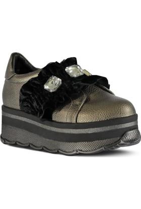 Marjin Farhod Dolgu Topuk Ayakkabı Platin
