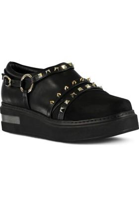 Marjin Rukes Düz Ayakkabı Siyah