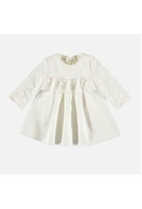 Mayoral 2821 Kız İşlemeli Elbise