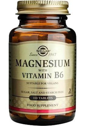 Solgar Magnesium With Vitamin B6 100 Tablet