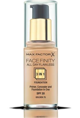 Max Factor FaceFinity 3'ü 1 Arada Kalıcı Fondöten 75 Golden