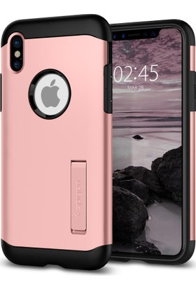 Spigen Apple iPhone X Kılıf Slim Armor Rose Gold - 057CS22139