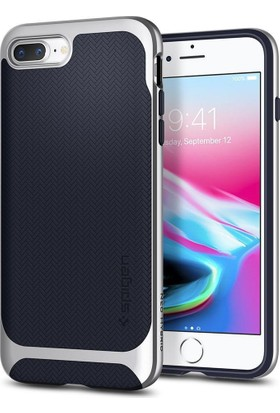 Spigen Apple iPhone 8 Plus - iPhone 7 Plus Kılıf Neo Hybrid Herringbone Satin Silver - 055CS22229