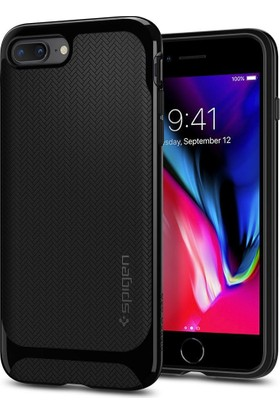 Spigen Apple iPhone 8 Plus - iPhone 7 Plus Kılıf Neo Hybrid Herringbone Shiny Black - 055CS22230