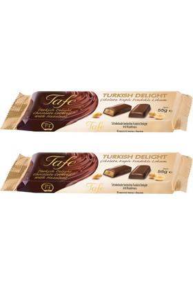 Tafe Çikolata Kaplı Fındıklı Lokum 55 gr x 2 Paket