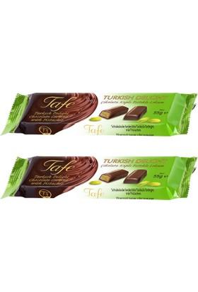 Tafe Çikolata Kaplı Fıstıklı Lokum 55 gr x 2 Paket