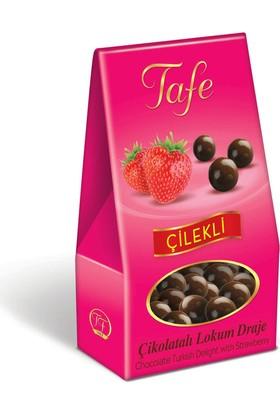 Tafe Çikolata Kaplı Lokum Draje - Çilekli 60 gr