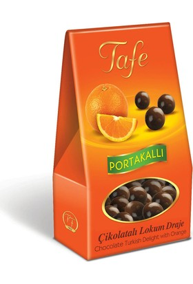Tafe Çikolata Kaplı Lokum Draje - Portakallı 60 gr