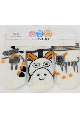 Bumbo Köpek 3'lü Bebek Çorabı