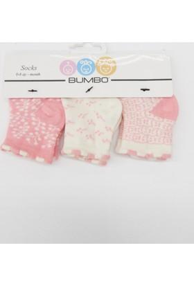Bumbo Tomurcuk 3'lü Bebek Çorabı