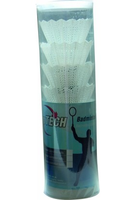 Protech Badminton Topu 6'lı Kaz Tüyü - Silindir Kutuda