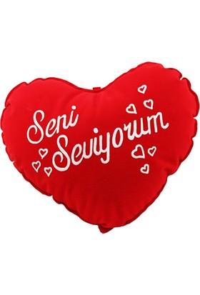 Çeyiz Diyarı Kalp Yastık Seni Seviyorum 40*35 Cm