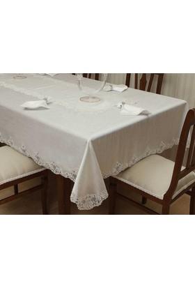 Evlen Home Kardelen Fransiz Danteli Yemek Takımı 26 Parça