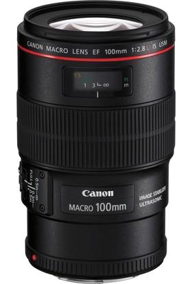 Canon Ef 100Mm F/2.8L Is Usm Lens / İthalatçı Garantili