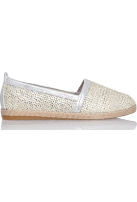 UK Polo Club P64923 Kadın Günlük Ayakkabı - Altın
