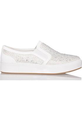 UK Polo Club P64922 Kadın Günlük Ayakkabı - Beyaz