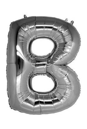 PartiBulutu B Harf Gümüş Folyo Balon 40 cm