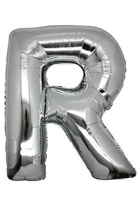 PartiBulutu R Harf Gümüş Folyo Balon 40 cm