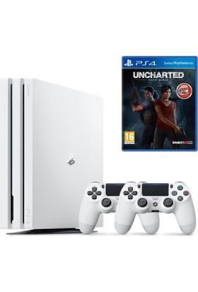 Sony Playstation 4 Pro 1 Tb Beyaz ( Ps4 Pro ) + 2. Ps4 Kol V2 + Ps4 Uncharted Kayıp Miras