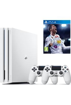 Sony Playstation 4 Pro 1 Tb Beyaz ( Ps4 Pro ) + Ps4 2. Kol + Ps4 Fifa 18