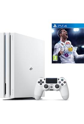 Sony Playstation 4 Pro 1 Tb Beyaz ( Ps4 Pro ) + Ps4 Fifa 18