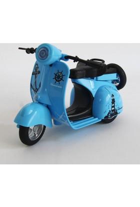 Can Ali Toys Oyuncak Metal Motorsiklet Renkli Çekbırak 13 cm