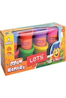 Lets Oyun Hamuru 8 Renk 600Gr L8358
