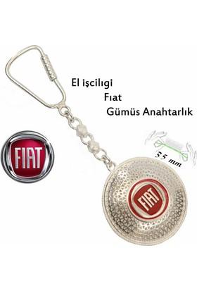 Midyat Nurtaş Gümüş 925 Ayar Gümüş Telkari El İşçiliği Fiat Anahtarlık 2010171