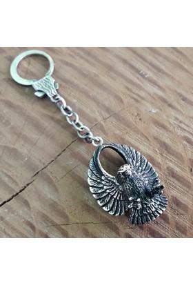 Midyat Nurtaş Gümüş Midyat Telkari El İşçiliği Gümüş Kartal Anahtarlık 20103918