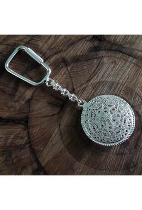 Midyat Nurtaş Gümüş Yıldız Model Midyat Telkari El İşçiliği Gümüş Anahtarlık 20106028