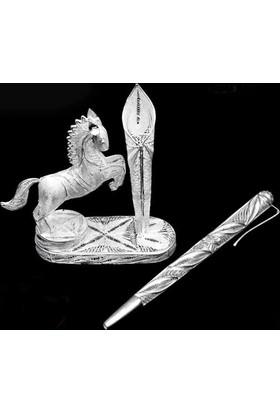 Midyat Nurtaş Gümüş Midyat Telkari El İşçiliği Masaüstü Kalemlik 20101091
