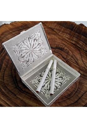 Midyat Nurtaş Gümüş Midyat Telkari El İşçiliği Gümüş Sigara Kabı Sigaralık 20104356