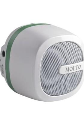 Molto Taşınabilir Bluetooth Hoparlör Beyaz Yeşil