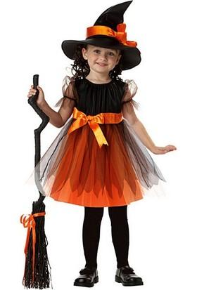 Kostümce Halloween Çocuk Cadı Kostümü