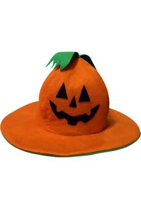Kostümce Balkabağı Şapkası Halloween Yetişkin