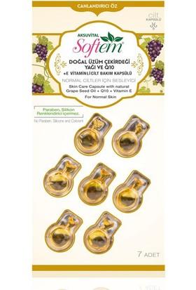 Aksu Vital Doğal Üzüm Çekirdeği Yağı ve Qten +E Vitaminli Cilt Bakım Kapsülü